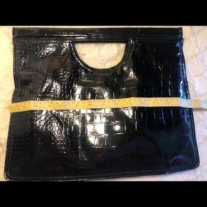 Black shiny clutch
